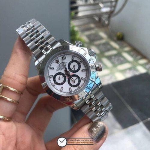 Rolex Daytona White Dial 40mm, สาย Jubilee, ก๊อปเกรดa,
