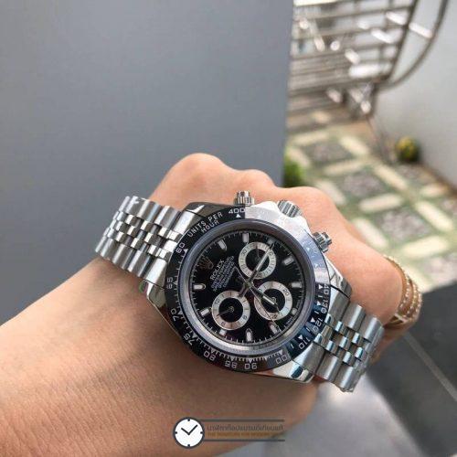 Rolex Daytona Black Dial 40mm, สาย Jubilee, ก๊อปเกรดa