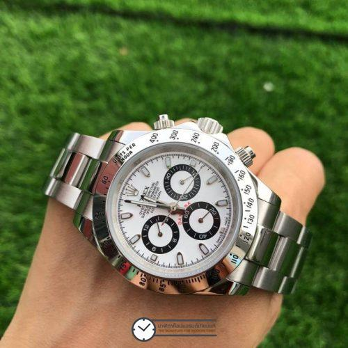 Rolex Daytona White Dial 40mm, ก๊อปเกรดa, หน้าปัดขาว