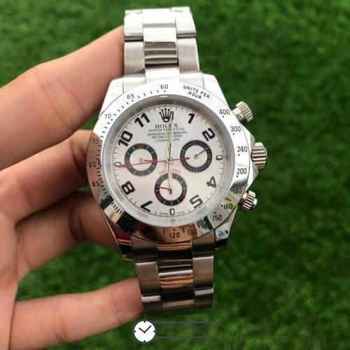 Rolex Daytona White Dial 116509 40mm, ก๊อปเกรดa, หน้าปัดขาว