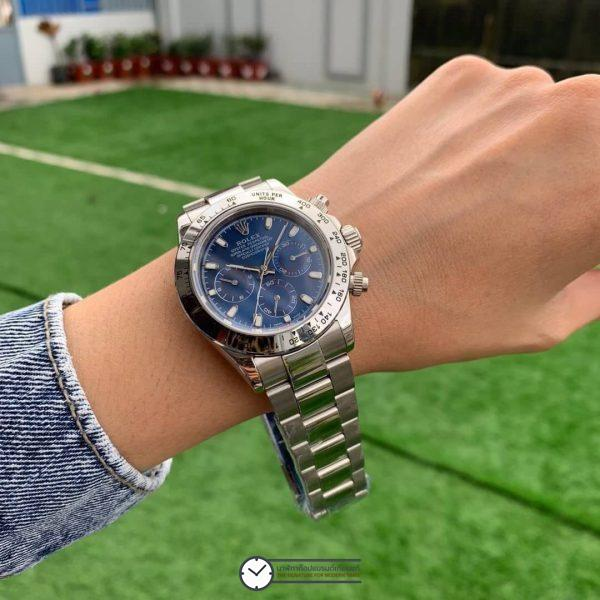 Rolex Daytona Blue Dial 40mm, ก๊อปเกรดa, หน้าปัดน้ำเงิน