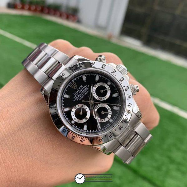 Rolex Daytona Black Dial 40mm, ก๊อปเกรดa, หน้าปัดดำ