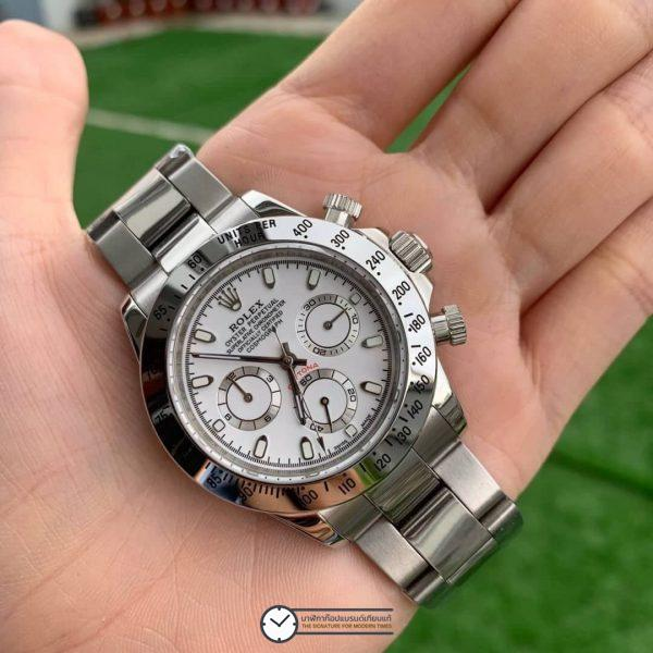 Rolex Daytona White Dial 116520 40mm, ก๊อปเกรดa, หน้าปัดขาว