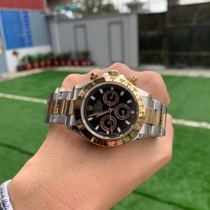 Rolex Daytona Two-Tone Yellow Gold 40 mm Black Dial