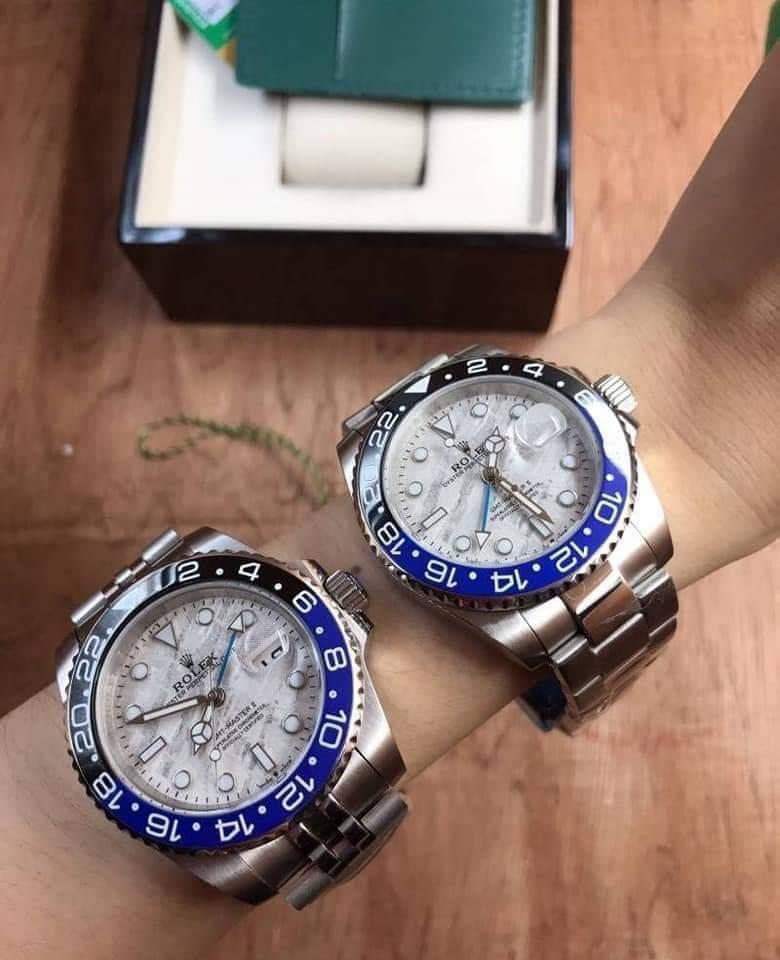 Rolex GMT-Master II White Dial - Blue and Black, Batman ก๊อปเกรดA