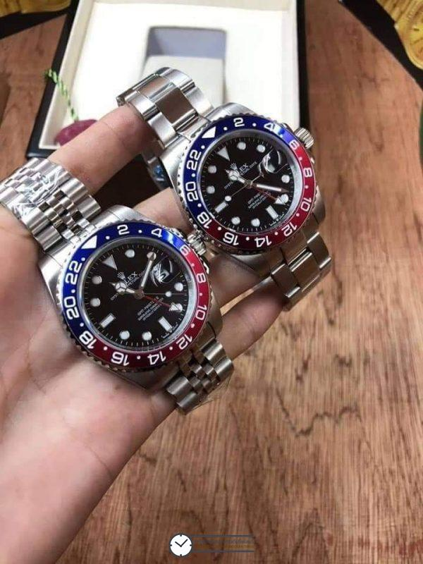 Rolex​ GMT-Master II - Blue and Red, Pepsi Bezel, ก๊อปเกรดA