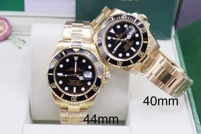 Rolex Submariner Yellow Gold Black Dial, ก๊อปเกรดa, เรือนทอง, หน้าปัดดำ