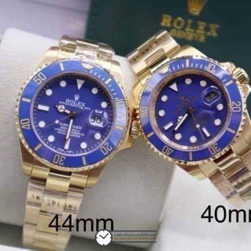 Rolex Submariner Yellow Gold Blue Dial, ก๊อปเกรดa, เรือนทอง, หน้าปัดน้ำเงิน