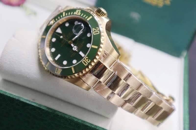 Rolex Submariner Yellow Gold Green Dial, ก๊อปเกรดa, เรือนทอง, หน้าปัดขาว