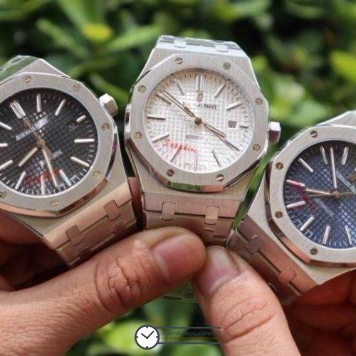 AP, Audemars Piguet​ Royal Oak, (Blue, Black, White Dial)​, ก๊อปผู้ชาย