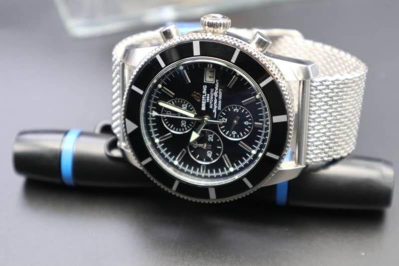 Breitling Superocean Heritage Chronograph 46 Men's Watch A1332024/B908-152A Black Dial, ก๊อป
