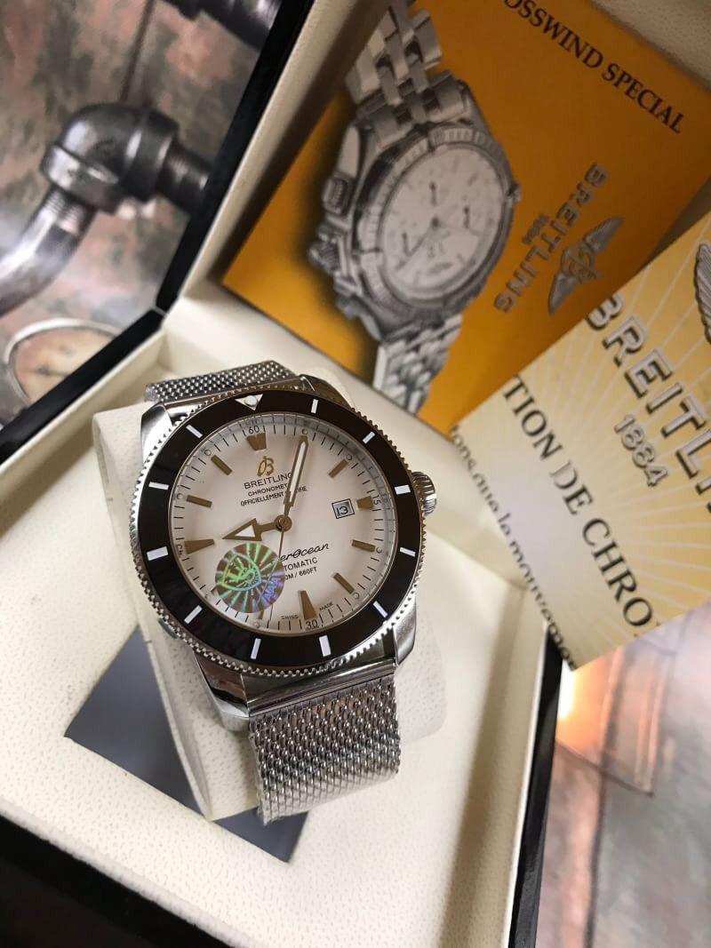 Breitling Superocean Heritage II 46 mm White Dial, ก๊อปผู้ชาย, หน้าปัดขาว