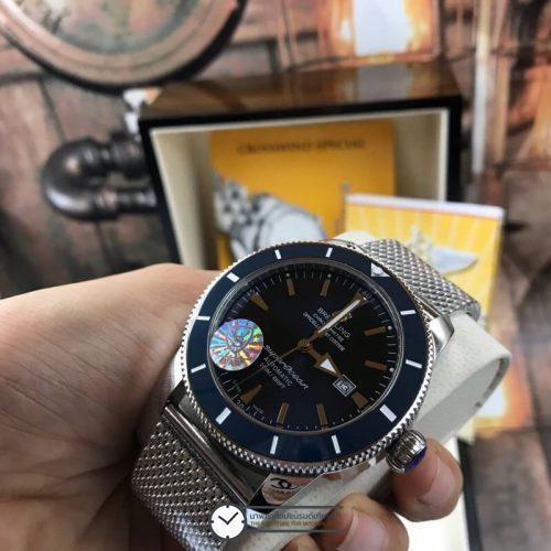 Breitling Superocean Heritage II 46 mm Blue Dial, ก๊อปผู้ชาย, หน้าปัดน้ำเงิน