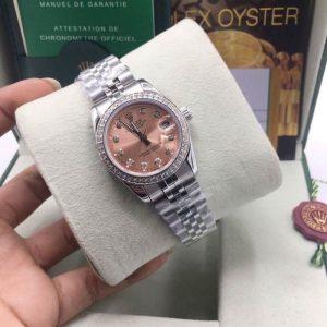 Rolex datejust 31 mm Pink Dial Diamond