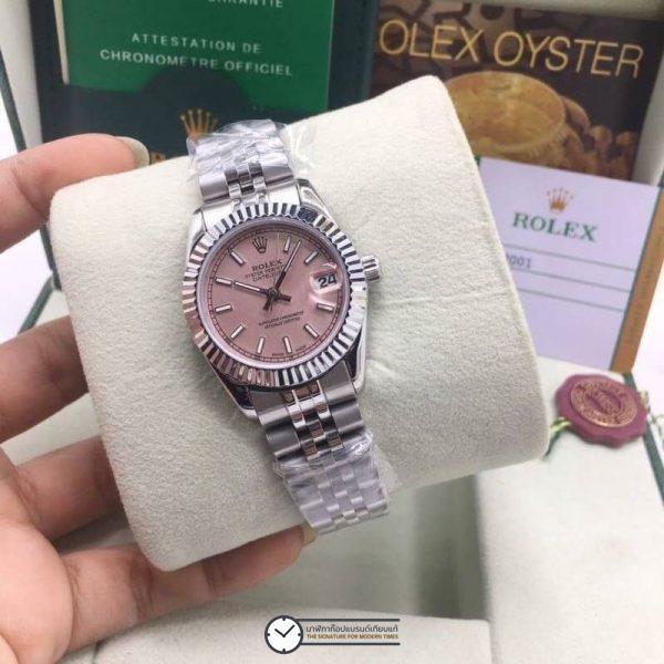 Rolex datejust 28,31mm Pink Dial Jubilee, โรเล็กซ์เดทจัสท์ก๊อปผู้หญิง หน้าปัดชมพู สายจูบิลี่