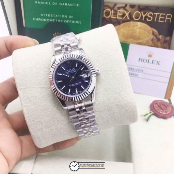 Rolex datejust 31mm Blue Dial Jubilee, โรเล็กซ์เดทจัสท์ก๊อปผู้หญิง หน้าปัดน้ำเงิน สายจูบิลี่