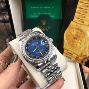 Rolex datejust 36 mm Diamond Blue Dial Jubilee ( Boy Size )