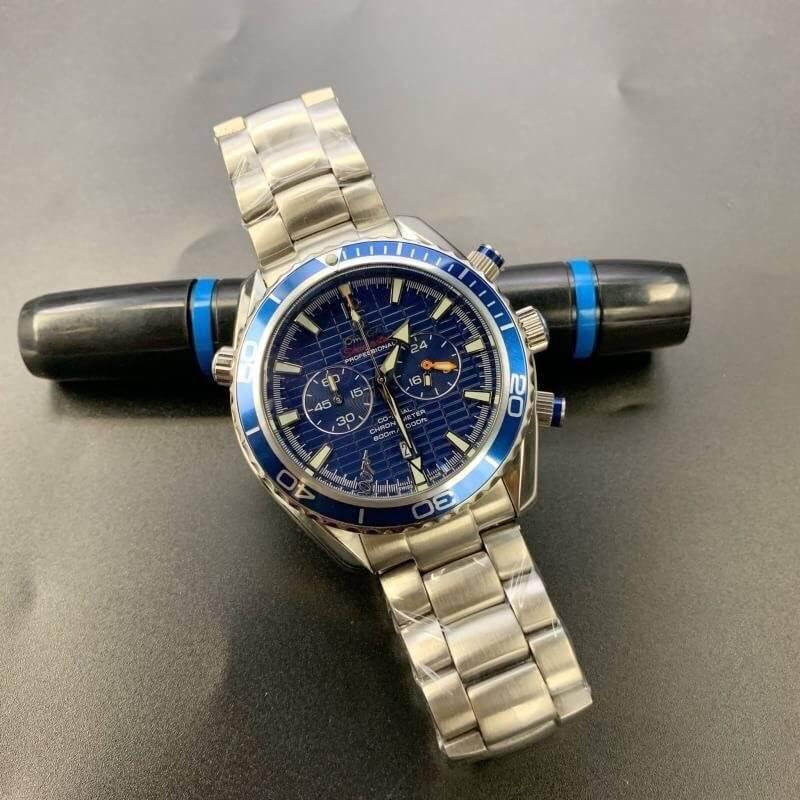 Omega Seamaster Quantum Of Solace 007 Blue, ก๊อปหน้าปัดน้ำเงิน