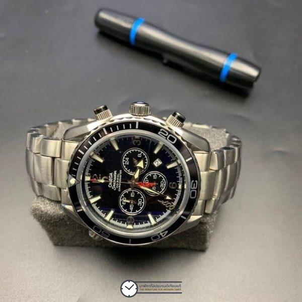 Omega Seamaster Quantum Of Solace 007 Black, ก๊อปหน้าปัดดำ