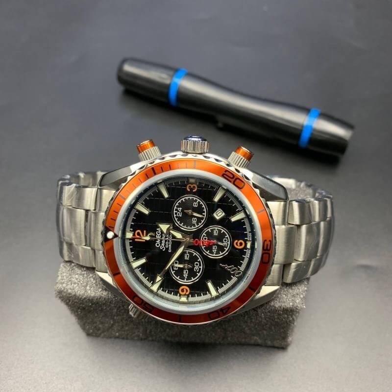 Omega Seamaster Quantum Of Solace 007 Orange Dial 44mm ก๊อปเกรดa