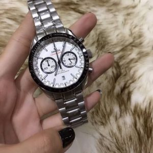 Omega Speedmaster Racing Master Chronometer model features White Dial