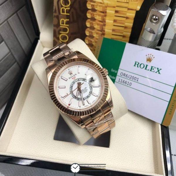 Rolex Sky dweller Rose Gold (White dial) 41mm, โรเล็กซ์สกายก๊อป โรสโกลด์ หน้าปัดขาว