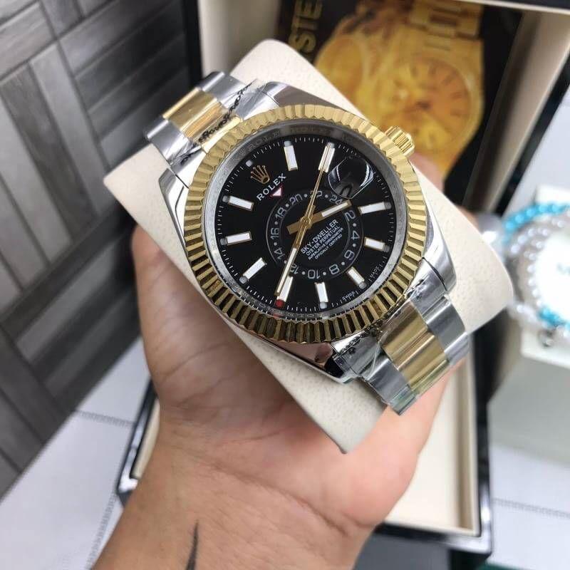 Rolex Sky Dweller Two-Tone Black Dial 41mm, โรเล็กซ์สกายก๊อปสองกษัตริย์ ทูโทน หน้าปัดดำ