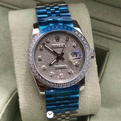 Rolex datejust 36 mm Diamond Gray Dial Jubilee, โรเล็กซ์เดทจัสท์ ขอบเพชร บอยไซส์ หน้าคอม ปัดเทา สายจูบิลี่