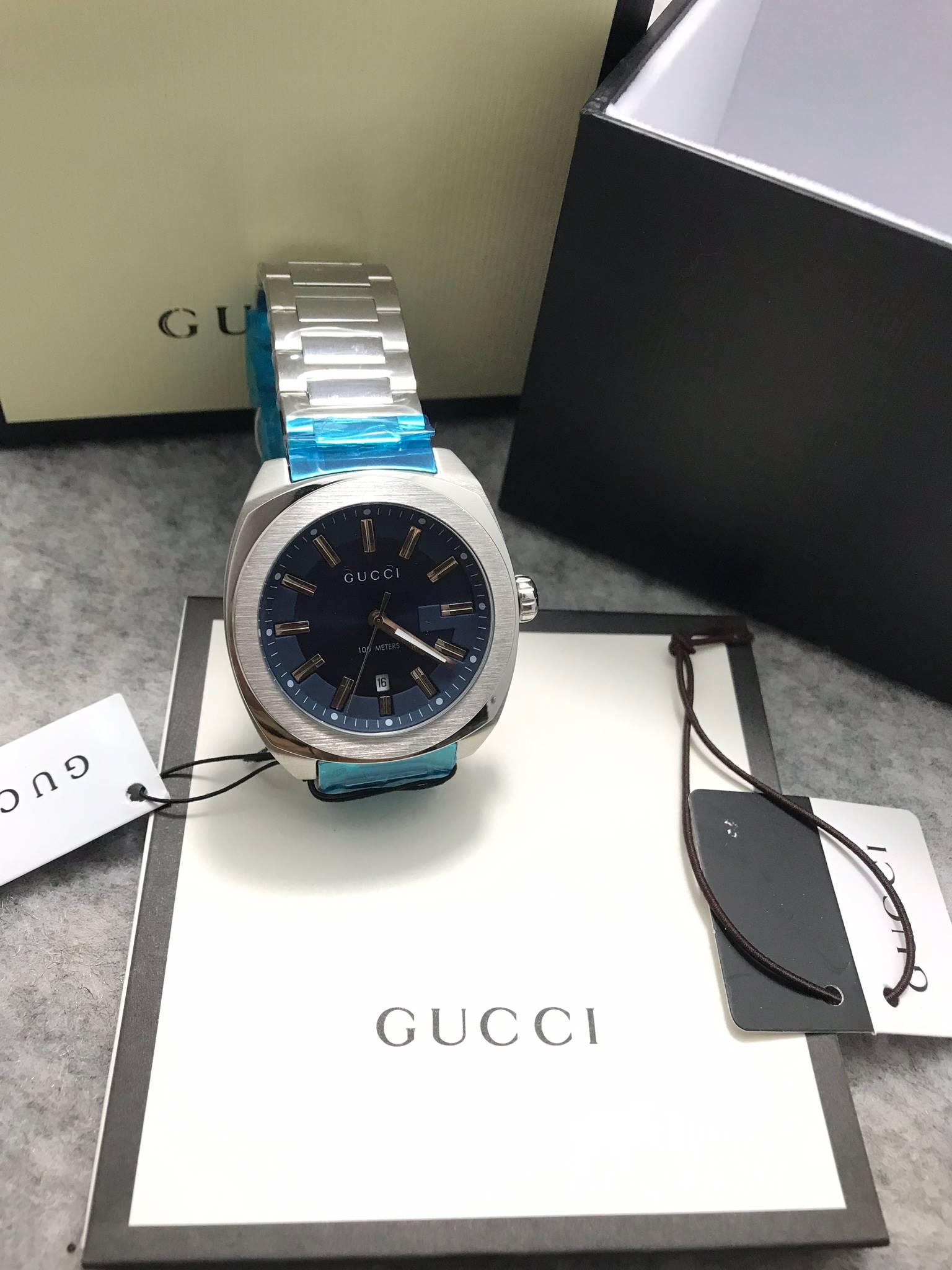 Gucci 100meter men's Watch Blue GG2570 ก๊อปเกรดa
