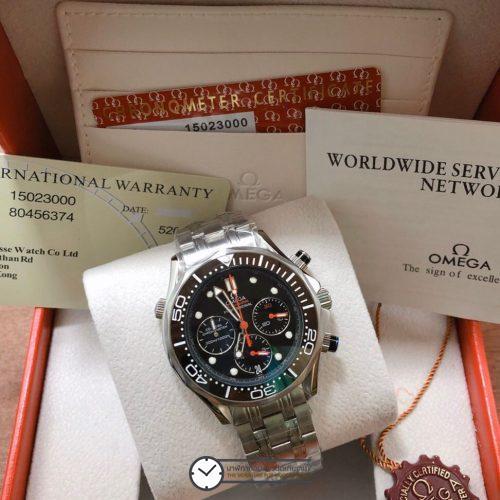Omega Seamaster Diver 300m Chronograph ETNZ Limited Edition Black Dial, ก๊อปหน้าปัดดำ