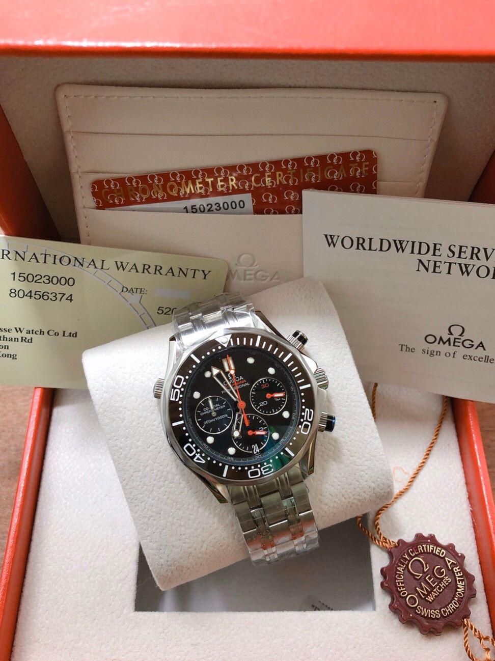Omega Seamaster Diver 300m Chronograph ETNZ Limited Edition Black Dial