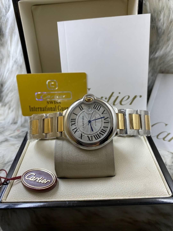 Cartier Ballon Two-Tone Yellow Gold White Dial 36mm ก๊อป