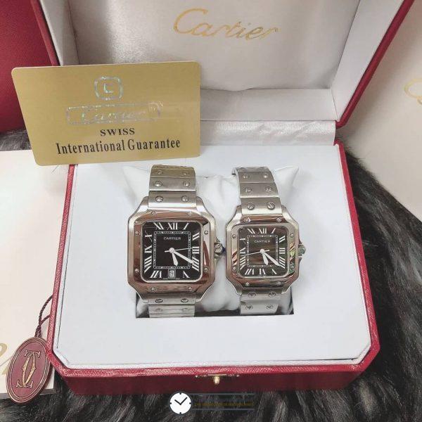 Cartier Santos Black Dial 35, 40mm ก๊อป