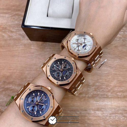 AP, Audemars Piguet Royal Oak Perpetual Calendar, Rose Gold​, (Black,Blue, WhiteDial), ก๊อปผู้ชาย