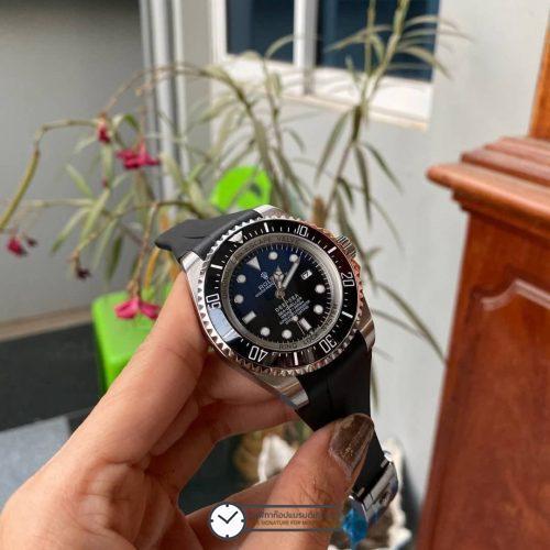 Rolex Deep Sea Blue Rubber Strap 44mm, โรเล็กซ์ดีฟซีก๊อป สายยางซิลิโคน หน้าปัดน้ำเงิน