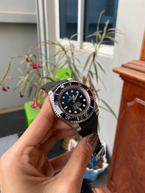 Rolex Deep Sea Blue Rubber Strap 44mm