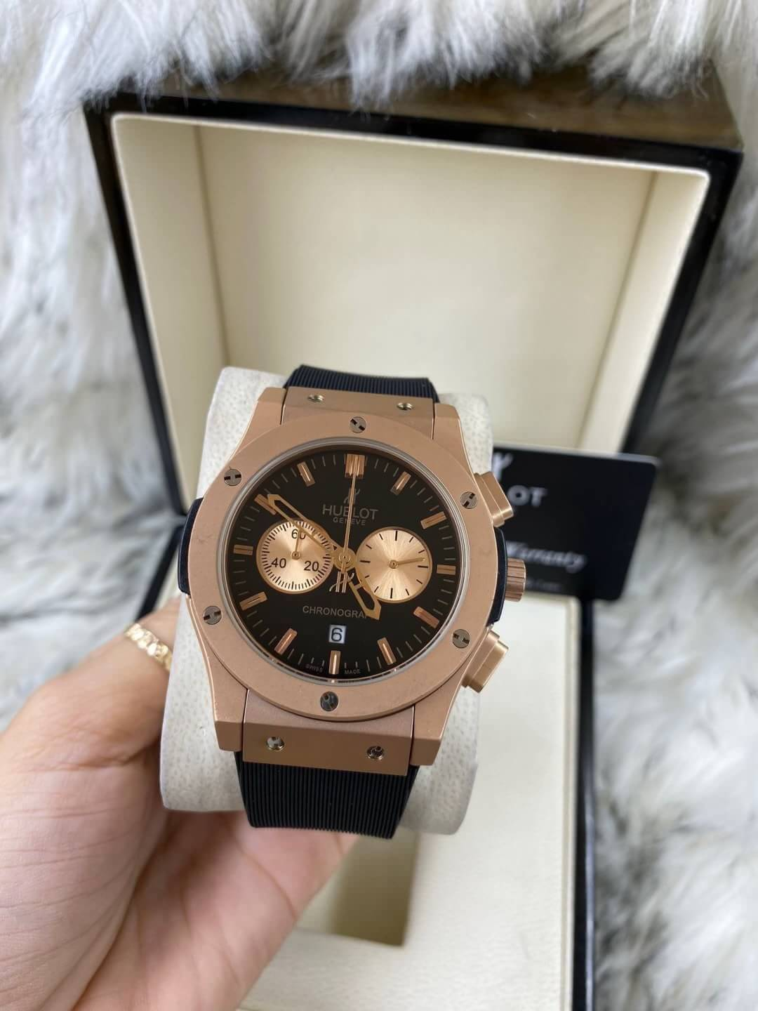 Hublot Classic Fusion​ Rose Gold​ 42 mm Black Dial