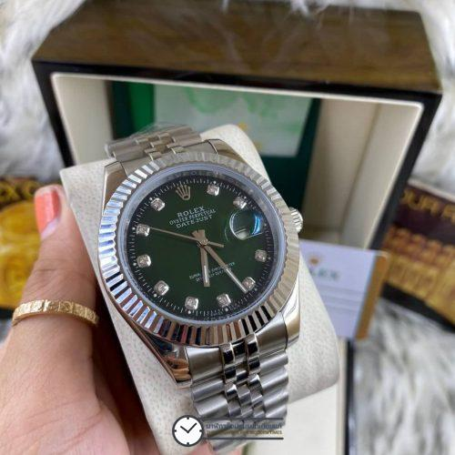 Rolex datejust Green Dial 40mm, โรเล็กซ์เดทจัสท์ก๊อป สายจูบิลี่ หน้าปัดเขียว