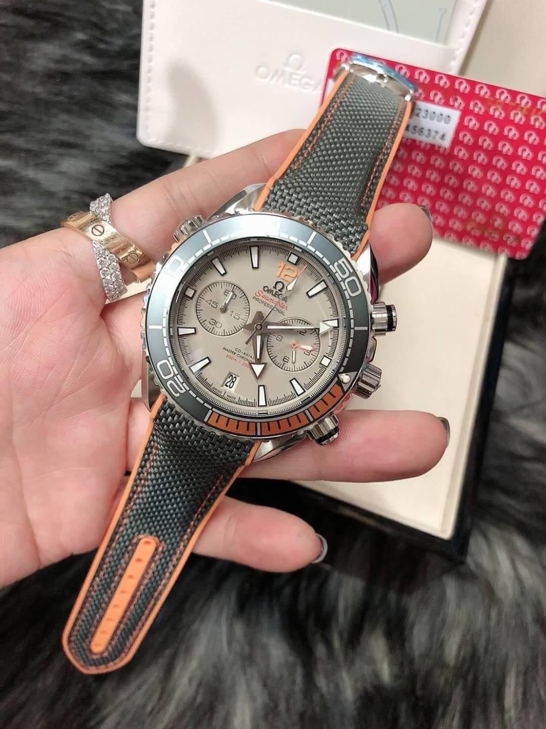 Omega Seamaster Planet Ocean 600M Gray Dial nylon wrist band