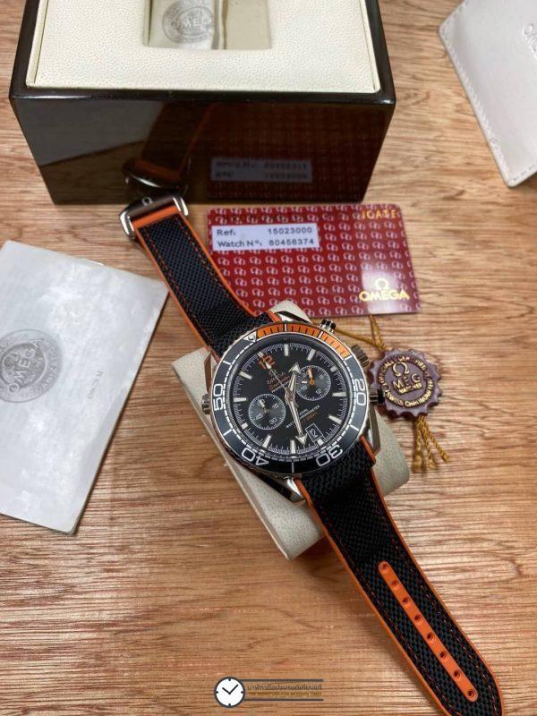 Omega Seamaster Planet Ocean 600M nylon wrist band, ก๊อปสายยาง ลายผ้า