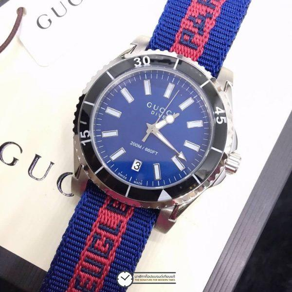 GUCCI DIVE BLUE​ DIAL NYLON STRAP MEN'S WATCH ก๊อปสายผ้า