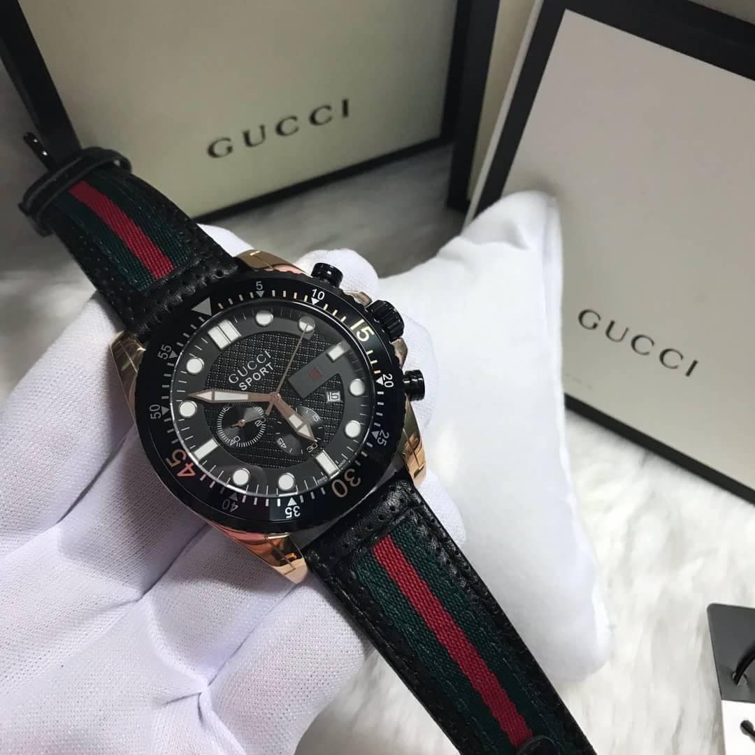 นาฬิกา Gucci Sport Black Dial Men's Watch ก๊อปผู้ชาย