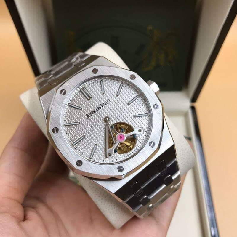 AP, AUDEMARS PİGUET ROYAL OAK TOURBILLON, WHITE DIAL