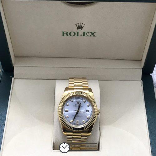Rolex Day Date 18k Yellow Gold 40mm White Dial, โรเล็กซ์เดย์เดทก๊อปเรือนทอง หน้าปัดขาว