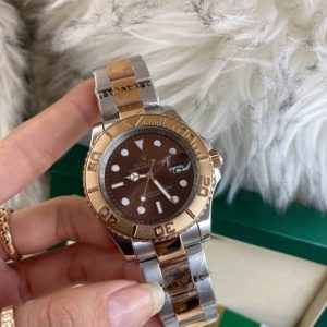 Rolex Yacht-Master 40 Steel and Rose Gold Chocolate Dial