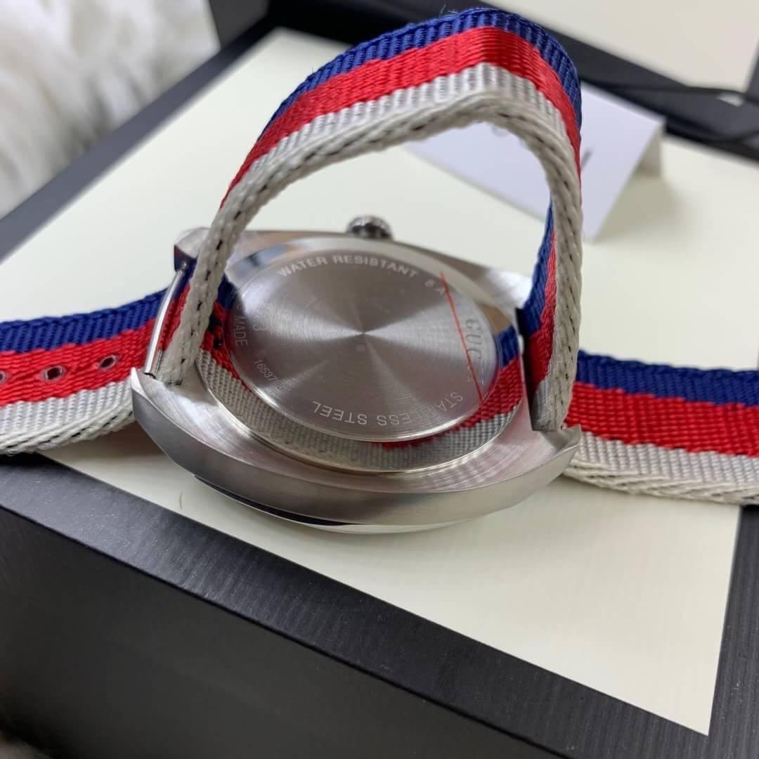 นาฬิกา Gucci 100meter men's Watch Blue Dial nylon Strap(GG2570) ก๊อปสายผ้า