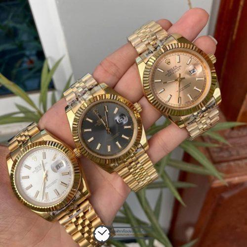 Rolex Datejust Yellow Gold(Gold,Black,White Dial) 40mm Automatic Watch, โรเล็กซ์เดสจัส เรือนทองผู้ชาย ก๊อป สายจูบีลี่