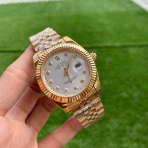 Rolex Datejust Yellow Gold Diamond White Dial 40mm Automatic Watch