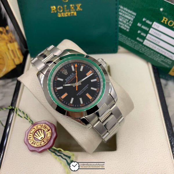 Rolex Milgauss 40mm Black Dial Automatic Men's watch, โรเล็กซ์มิลกลาสก๊อป หน้าปัดดำ