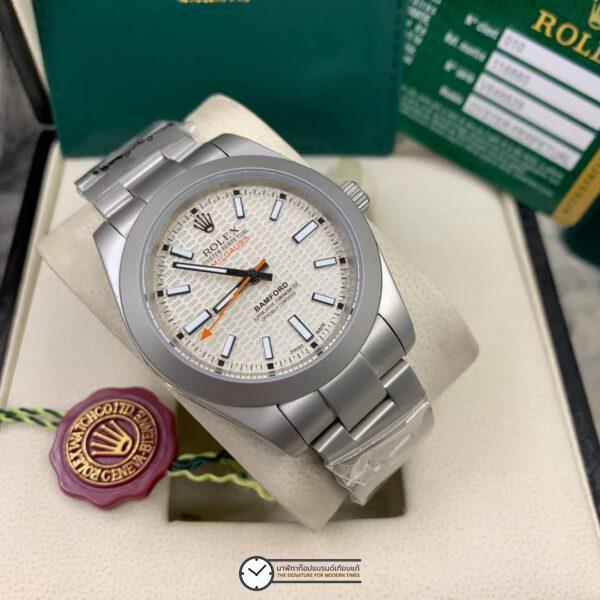 Rolex Milgauss Bamford 40mm White Dial Automatic Men's watch, โรเล็กซ์มิลกลาสก๊อป หน้าปัดขาว
